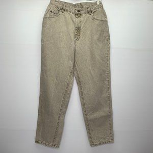 Lee Jeans 14 P Vintage Mom Jeans High Waist Tan
